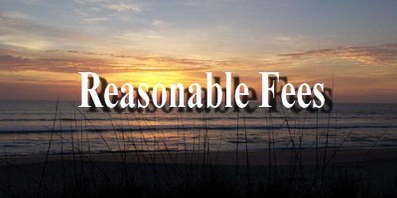 reasonable fees